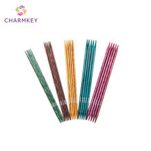 Various styles birch wood colourful knitting needles