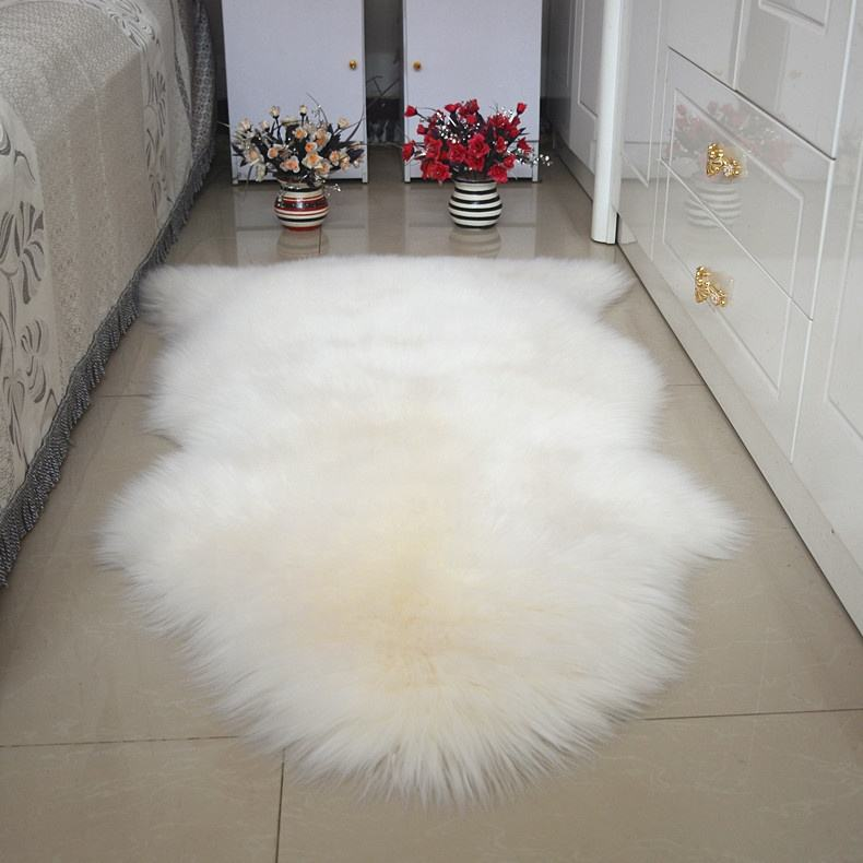 Fluffy Soft Home Decor Living Room Bedroom Long Hair Pile Goat 100% Real Sheep Fur Rugs