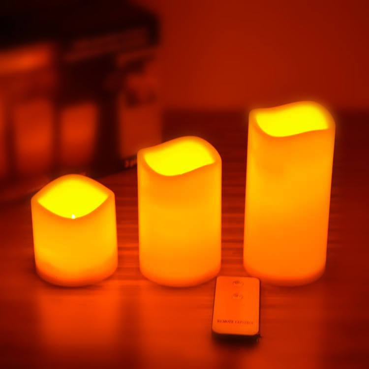 electric candles remote/led pillar candle/large outdoor candles