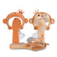 Summer Plastic Cartoon Monkey Shape Mini Fan Handheld