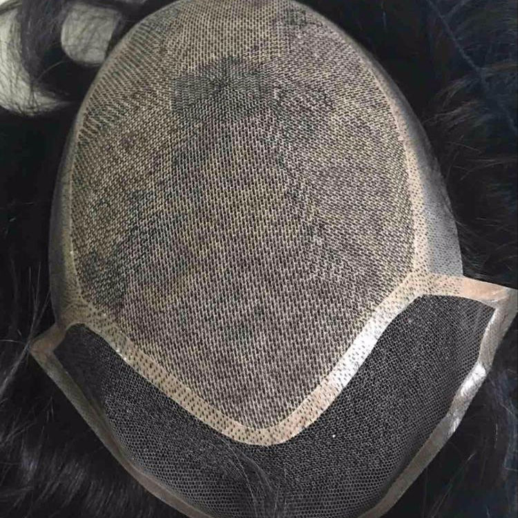 Top quality lace net Hair Topper/Toupee For man Human Hair Replacement System Hairpieces
