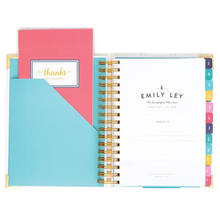 A5 organize with divider tab laminated and gold reinforced corners Custom printing daily planner