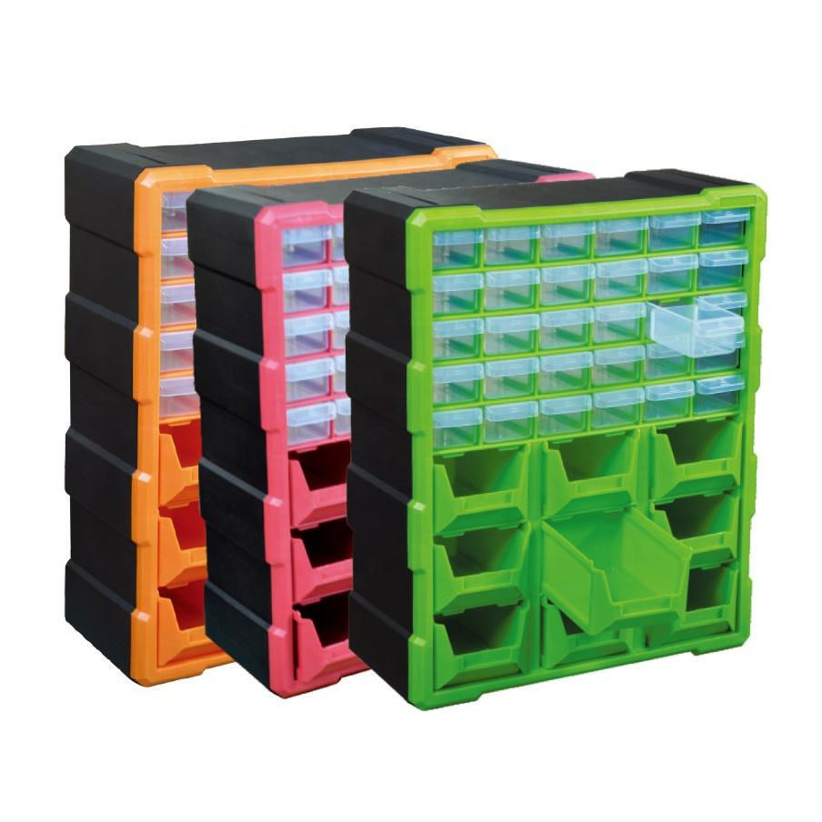 Home Storage Organization Plastic Tool Box Storage Bins with Drawers
