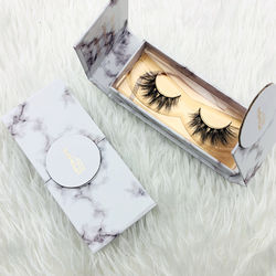 white marble magnetic box 25mm mink lashes private label