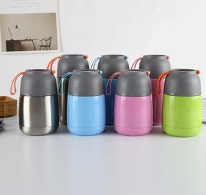 Double Wall Vacuum Insulated Thermo Stainless Steel Food Jar dengan Makanan PP Cover
