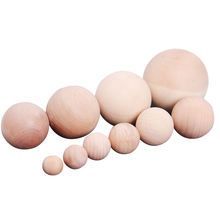 wholesale custom natural wooden toys educational 20mm 30mm 40mm  wooden balls of different size