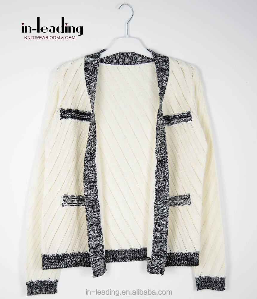 Adult Knit Sweater Cardigan High Quality Coat Short Knitwear