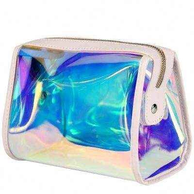Zipper Hasp [ Cosmetics Cosmetic Bag ] Bag Makeup Pvc Cosmetic Bag Waterproof Cosmetics HoloGraphic Cosmetic Bag Clear Custom PVC Compartments Organizer Makeup Bag Travel Makeup Cosmetic Bag