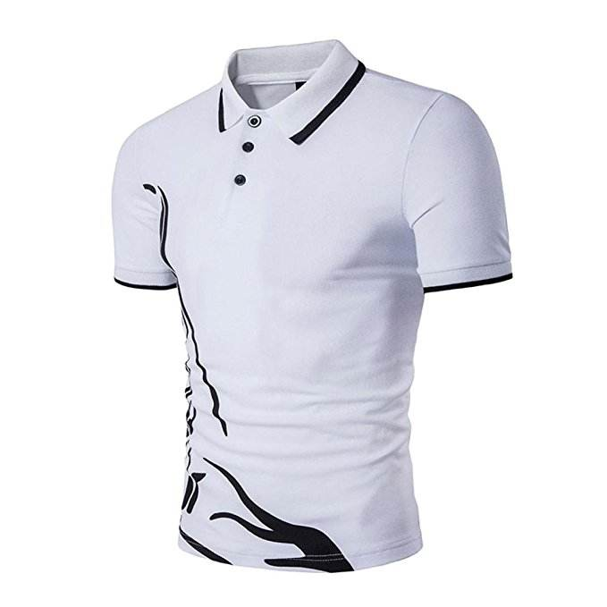 men's polo shirt two color blank plain polo shirts
