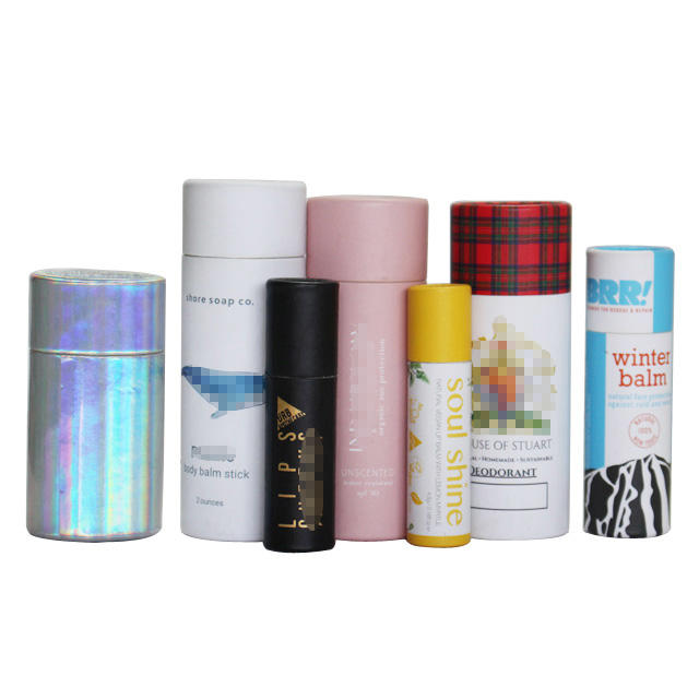 ECO-friendly paper tube packaging cardboard push up deodorant containers paper tube for toy packaging