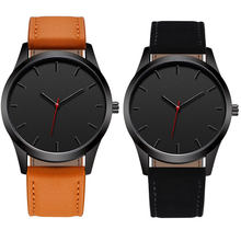 WJ-7126 Hot Selling Vogue Men Watch No Logo Small OEM Watches Leather Wristwatches Low Price