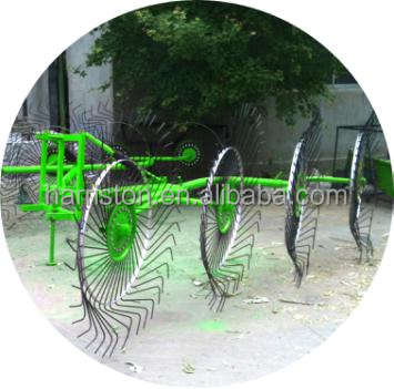 High quality and High Efficiency Finger Wheel Hay Rake