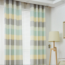 Simple modern living room bedroom curtains with cotton linen fabric