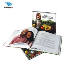 Useful well-designed cookbook print vegan food book printing services