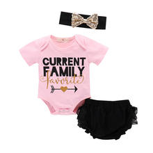 Newborn Baby Girls Clothes 1st Birthday Baby Bodysuit Romper + lace pant Outfits Infant Clothing Set Baby Born Christening Gifts