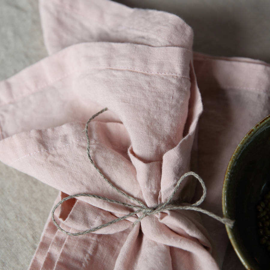 100% French linen table napkin stone washed linen napkins
