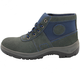 Blue Suede Leather Water-proof Anti Acids Work Shoes