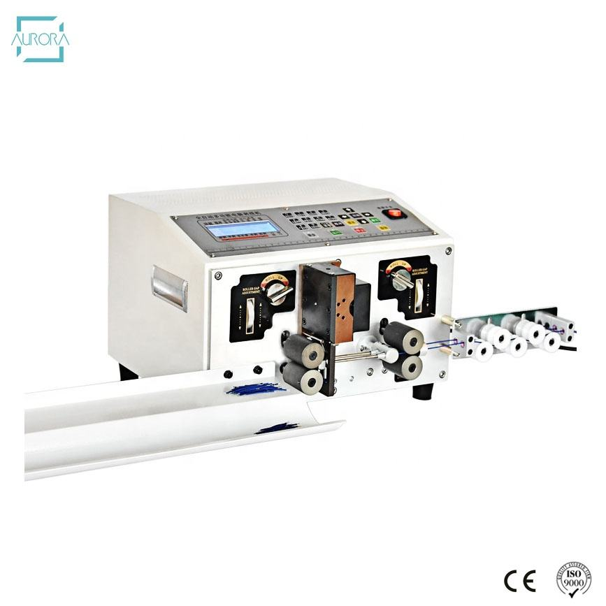 Newest type full-automatic computer sheath wire cable cutting and computer wire stripping machine