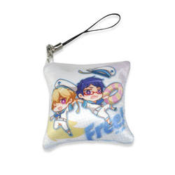 2017 cheap anime dakimakura mini strap custom key fabric strap lifting chain custom pillow keychain