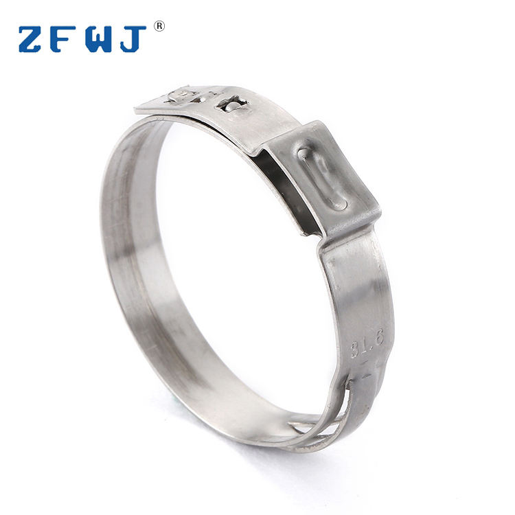 29.5-31.6mm adjustable stainless steel stepless ear hose clamp