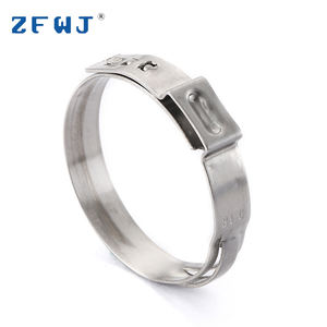 29.5-31.6 Mm Disesuaikan Stainless Steel Stepless Telinga Hose Clamp
