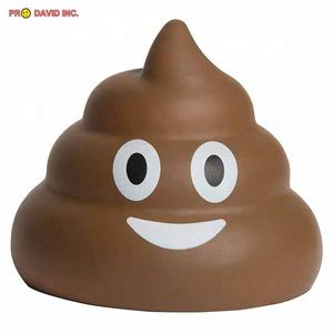 Supply Promotional Gifts Smiling Poop custom logo squishy ball