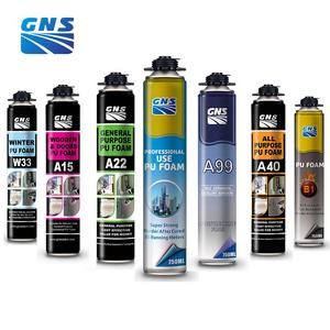 GNS Most popular foam spray sealant pu polyurethane adhesive 750ml pu foam spray can