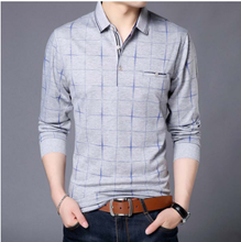 POLO SHIRT MEN PLAID FITNESS POCKET CAMISA POL MASCULINO STREETWEAR MENS POLOS SHIRTS SWEATSHIRTS POLOSHIRT