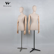 2019 factory price pinable half-body form female torso tailor bust dress form ghost mannequin for sale