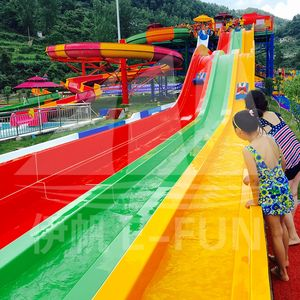 China Guizhou BLGH 30 000 Fiberglass Water Slide / Wave Pool / Family Water Playground Water Park