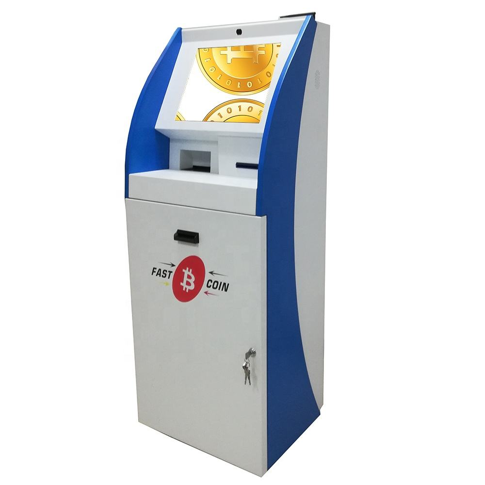 China manufacturer for free standing Self-Service automated terminal payment touchscreen kiosk machine