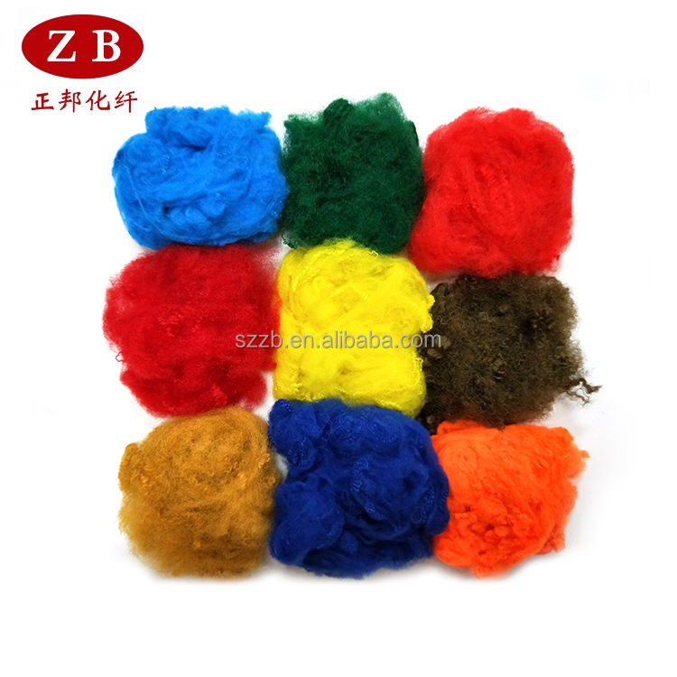 black and colored polyester staple fibre manufacturer