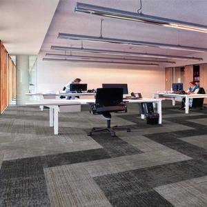 Stripe Pattern Grey Colour Good Quality Tufted Carpet Tile For Office  Hotel Home use