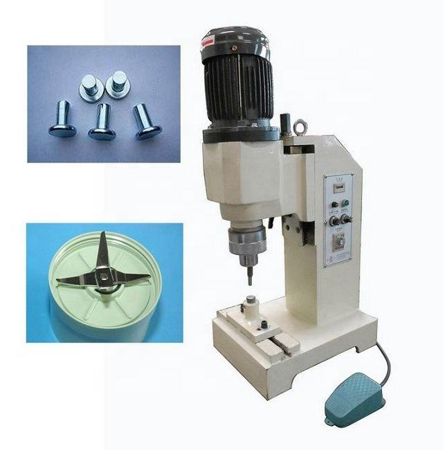 Small Pneumatic Orbital Riveting Machine for Hollow Rivets