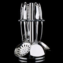 Mirror Finish Stainless Steel Kitchen Utensil 304 Serving Cooking Utensil Set