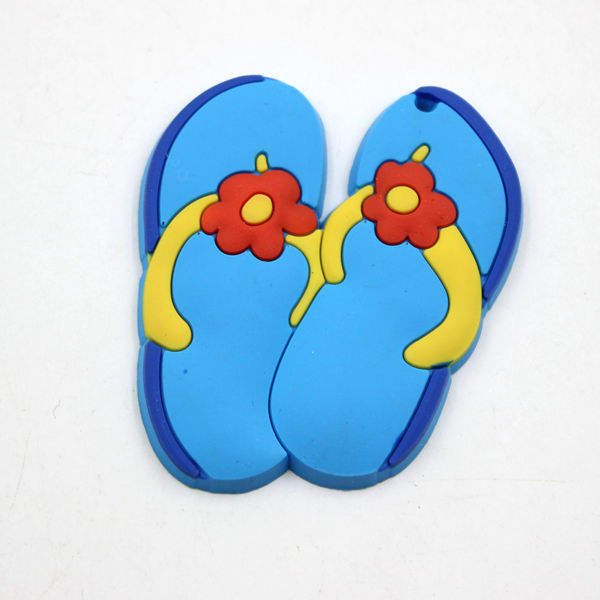 New Design Fancy Slipper Shaped Soft PVC Keychain Accessories