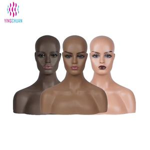 Wholesale wig display mannequin heads with shoulders