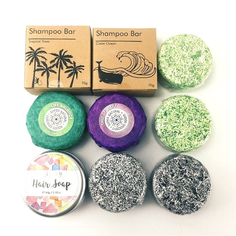 Hot Selling Wholesale OEM Private Label Paper Box Tin Box Bubble Hair Care Solid Soap Natural Organic Vegan Shampoo Bar