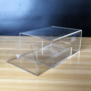 Vitrine personnalisée boîte à chaussures en acrylique transparent boîte d'affichage pour tiroir de boîte à chaussures en plexiglas nike