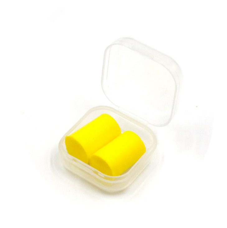 Custom PU Foam Cylinder Ear Piercing Plugs for Sleeping with Plastic Case Package