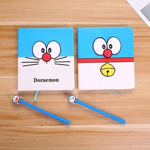 Doraemon Kawaii Notebook met 3D Cap Pen Leuke Briefpapier Set Voor Kid
