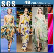 Fashionable patterns silk chiffon fabric metallic
