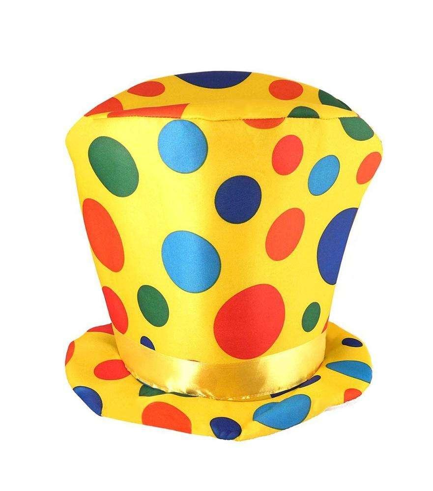 Adults Multi coloured Clown Hat Comedy School Party Clown Kipper Hat