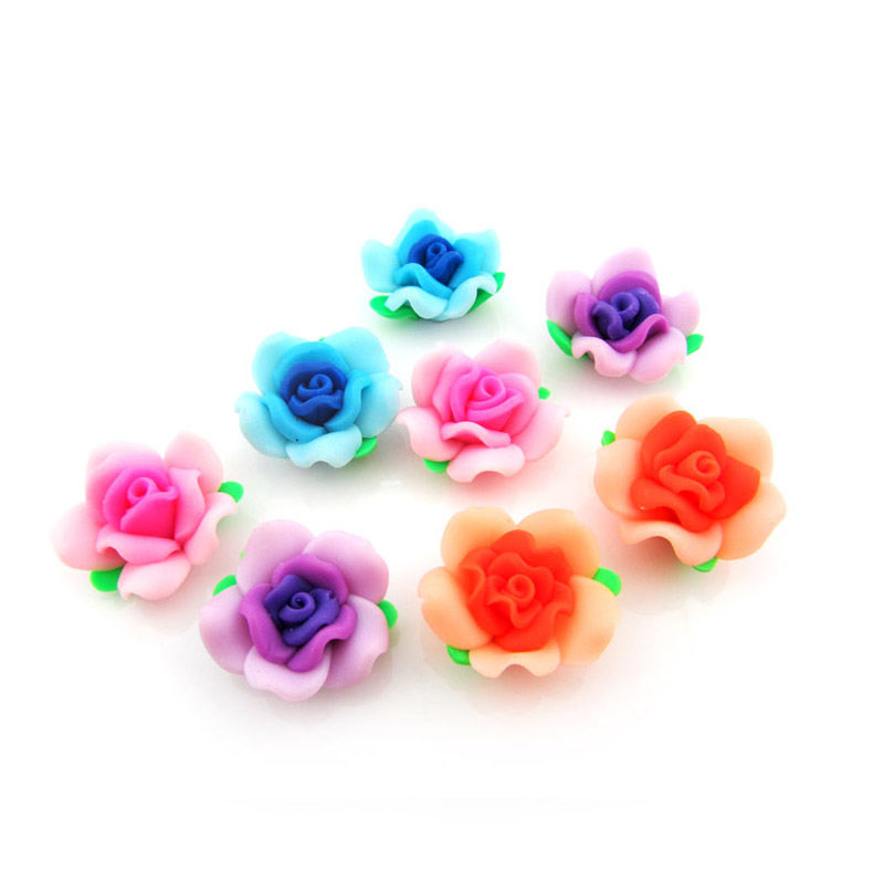 Professional Handmade rose polymer clay flower