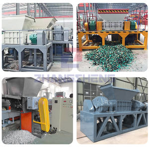 small scrap metal crusher solid waste,plastic bottle two shaft mini shredder metal shredder machine