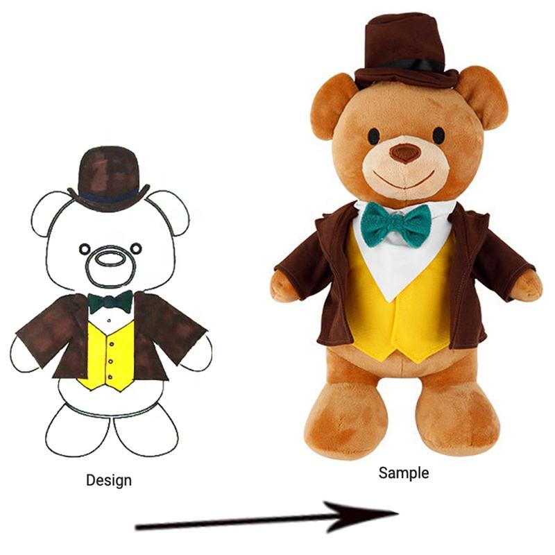 OEM stuffed soft graduation teddy bear toys custom animal plush toys