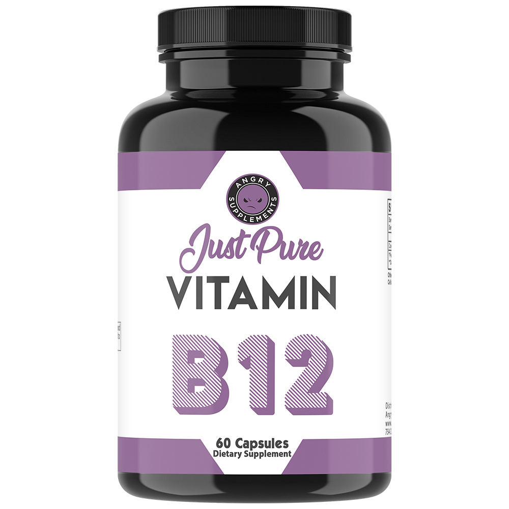 USA Private Label Dietary Supplement Capsule Just Pure Vitamin B12