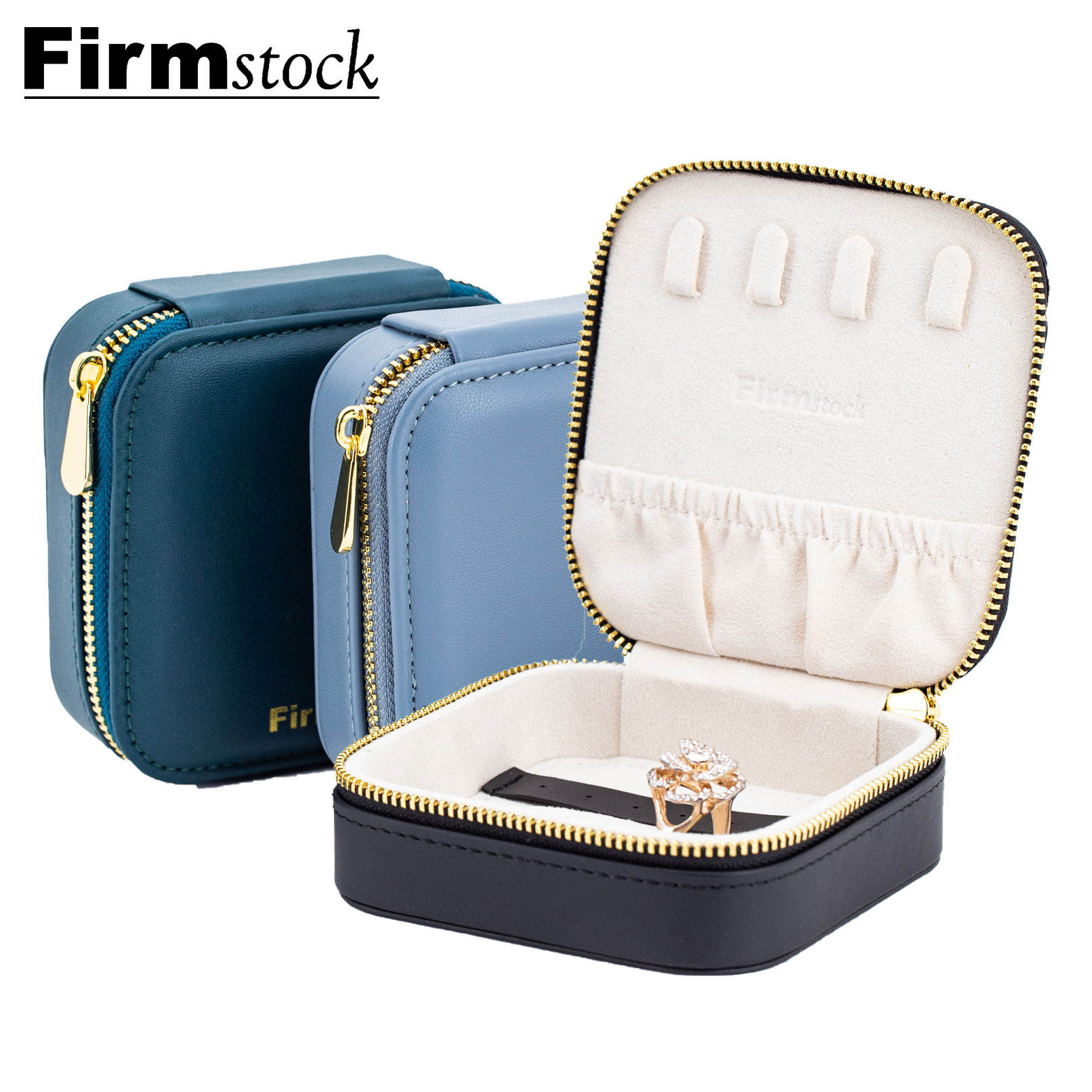 Box Glass Organizer Gift Jewellery Pu Portable Cases Design Packaging Boxes Jewelry Travel Case
