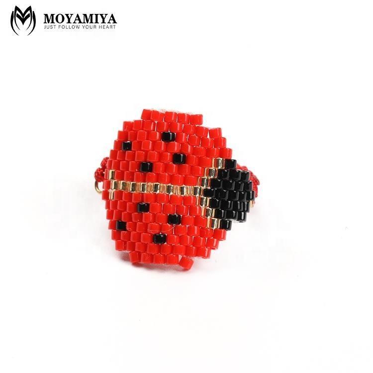 MI-R180018 Moyamiya Miyuki semilla cuentas encanto colorido anillos escarabajo anillo 2019 conjunto de joyas de Pulsera