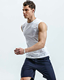 Polyester Shirt Sleeveless Custom Polyester Spandex Mens Running Dry Fit T Shirt Sleeveless